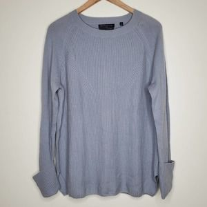 Brown Allan 1883 MerinoWool Cashmere Blend Sweater